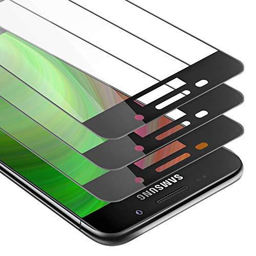Cadorabo 3x Pellicola Protettiva copertura completa compatibile con Samsung Galaxy A5 2016 in TRASPARENTE con NERO - Pacco di 3 Vetro di protezione del display con durezza 9H con 3D touch
