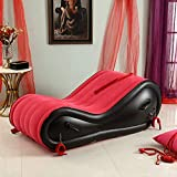 LH Meubles de Sexe Gonflable G Spot Rampe de Coussin de Sexe, PVC Selle Magic Sofa Gonflable, Assistant de Flirt lit Gonflable (Rouge)
