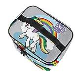 DJNGN My Little Starlite Rainbow Brite Pony Precioso Maquillaje de Viaje Bolsa Multifuncional cosmética Bolsa de Lavado portátil Bolsa de Almacenamiento de Maquillaje niñas