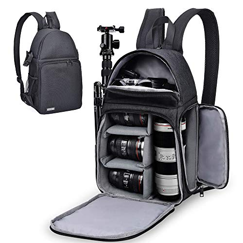 CADeN Camera Bag Sling Backpack for DSLR/SLR Mirrorless Camera, Camera Case Compatible for Sony Canon Nikon Camera and Lens Tripod Accessories