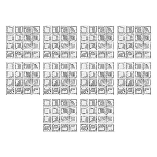 10 pegatinas autoadhesivas para azulejos de PVC para azulejos de cocina, baño, encimera, decoración de pared
