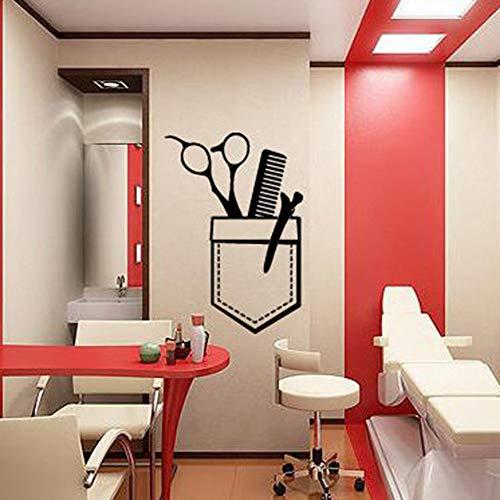 HGFDHG Barbería Tatuajes de Pared peluquería Arte Pegatinas de Pared decoración de Ventanas patrón Herramienta Hermosa