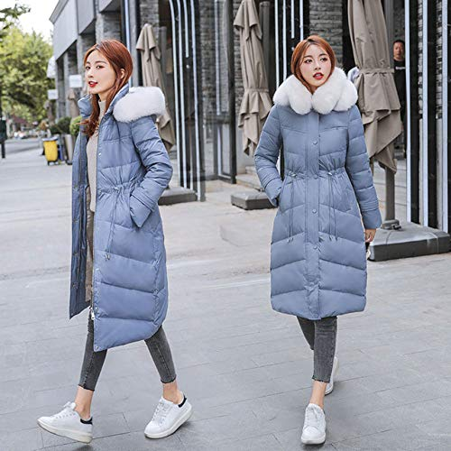 ZYJANO Down jas, Lange 2019 Mode Slim Vrouwen Winter Down Jacket Warm Verdikking Dames Jassen Lange Parka Vrouw Zwart bovenkleding