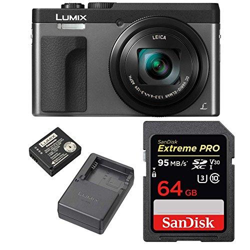 Price comparison product image Panasonic Lumix DMC-ZS70S 20.3 Megapixel 4K Digital Camera (Silver) w / 64GB SD Card & Lumix Battery & Charger Travel Bundle