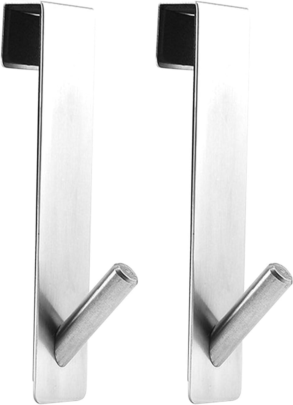 Over Door 55% OFF Hooks Rapid rise Stainless Steel Hook Home Stora Single