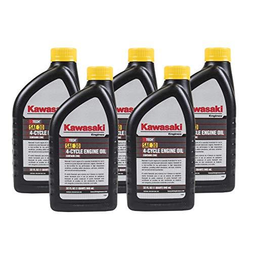 Pack of 5 Kawasaki 99969-6281 Genuine OEM K-Tech SAE 30 4-Cycle Engine Oil