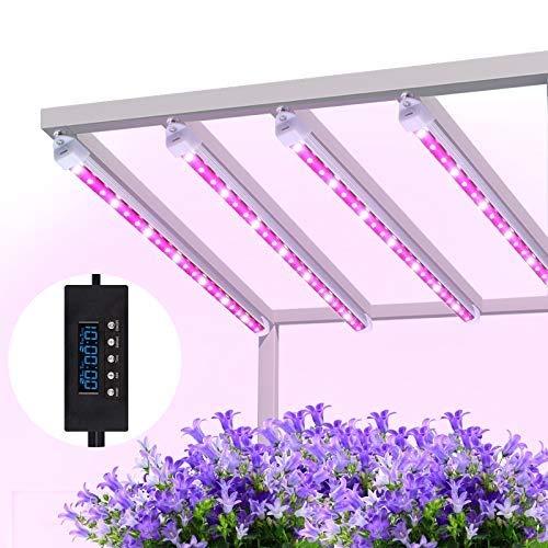 MIXC pflanzenlampe 40W LED Pflanzenlicht Pflanzenleuchte Wachsen licht Vollspektrumverbesserte Grow Lampe 24 Stunden Radfahren 5 dimmbare rot/gelb für Pflanze Sukkulenten Sämling [4-Pack]