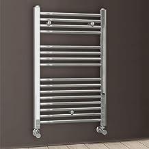 Kibath L497503 handdoekhouder, handdoekhouder, radiator, voor warmwatercircuit, stalen buizen met chroomafwerking, 800 x 5...