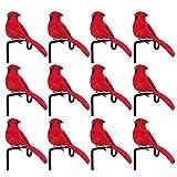 LAMF 12 piezas de plumas artificiales de espuma de simulación de pájaros de amor para manualidades, decoración del hogar, pájaro rojo, decoración de bodas, accesorios de fiesta