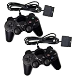 2x Controller für PS2 Playstation 2 Dual Vibration, wired Gamepad kabelgebunden