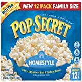 Pop Secret Microwave Popcorn Bonus Pack 10 + 2 Free Bags - Homestyle