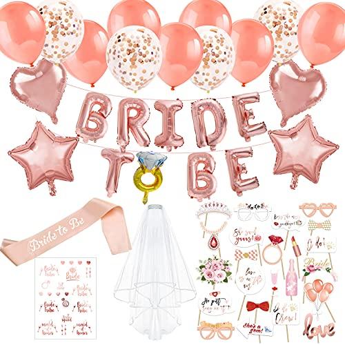 HOWAF Bride To Be Globos Banner Banda Despedida de Soltera, Photo Booth...