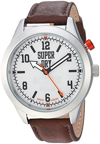 Superdry Reloj Analógico para Hombre de Cuarzo con Correa en Cuero SYG187BR