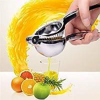 マニュアルジューサー家庭用ステンレス鋼のスクイーザーフルーツプレスレモンスクイーザジュースExtracto簡単ジュース抽出 (色 : Silver-S)