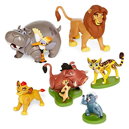 Disney Collection The Lion Guard 6 Piece Figurine Playset - Kion Pumbaa Simba Figures Play Set