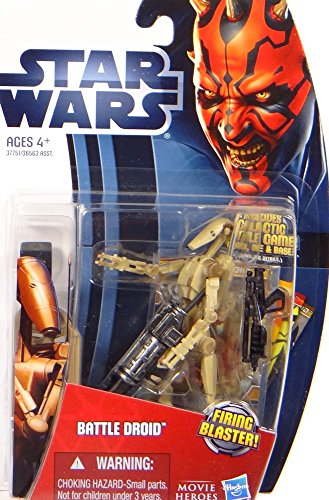 Hasbro Battle Droid with Missile Firing Blaster MH04 (marrón) Movie Heroes – Star Wars