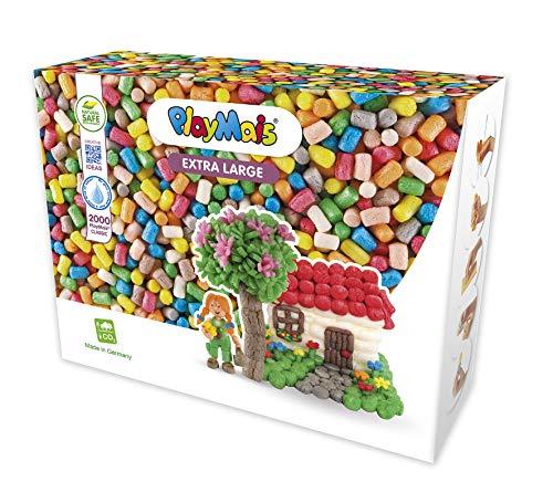PlayMais Basic XL Bastel-Set für Kinder ab 3 Jahren | Über 2000 Stück zum Basteln | Natürliches Spielzeug | Fördert Kreativität & Motorik | Geschenk für Mädchen & Jungen | Made IN Germany