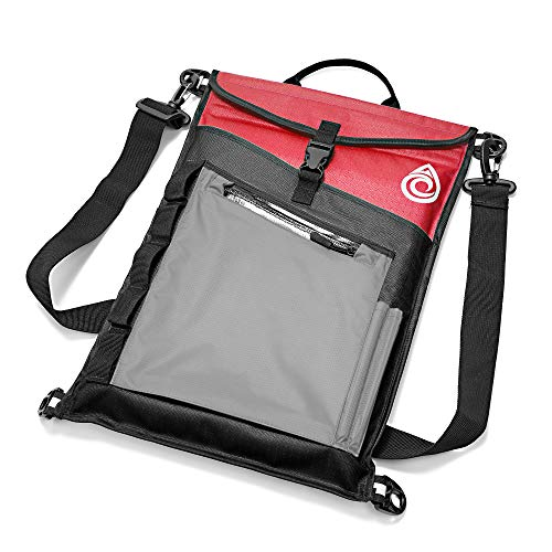 Aqua Quest Typhoon Laptop Sleeve - 100% Waterproof, Lightweight, Durable, Padded Case - Protective Computer Pouch Cover Bag - 13 inch - Red