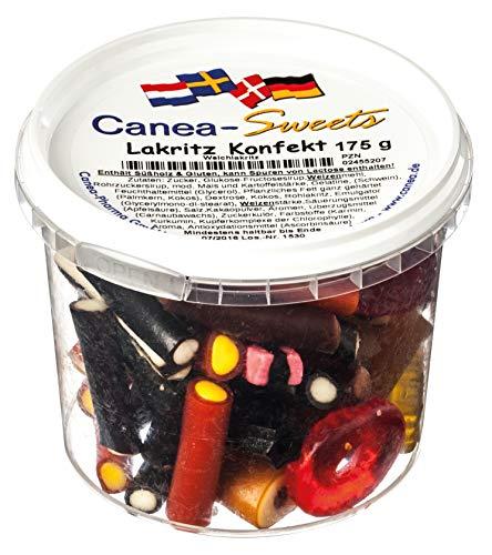 Canea-Sweets Fruchtgummi-Lakritz-Mischung, LAKRITZ Konfekt Dose, 1er Pack (1 x 175 g)