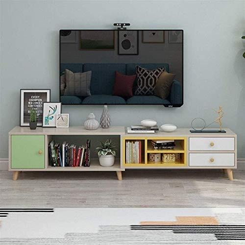 CSD Soporte de TV Consola de Almacenamiento con gabinete Puerta y cajones Consola de Madera de Madera para Sala de Estar o Oficina TV de Oficina Console Media Stand Media Console
