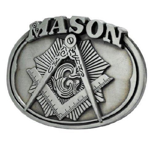 Mason Freemason Masonic Silver Brushed Metal Belt Buckle