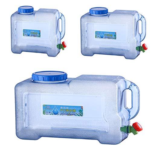 cucheeky Depósito de agua al aire libre, almacenamiento de agua ciudadana con grifo, plástico para beber PC, paquete mineral, depósito de agua pura, para coche, camping