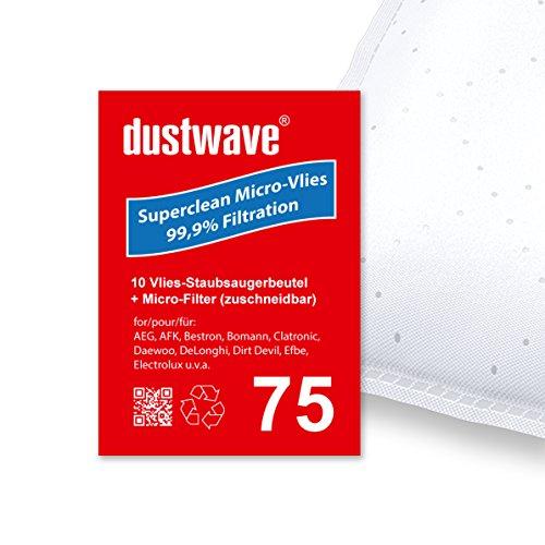 10 bolsas de aspiradora   Bolsas para aspiradora Bestron – D 00016 / D00011 – Fabricado en Alemania + Incluye microfiltro