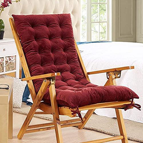 Velvet Cushion Soft Fabric Sitzpolster Kissen Chair Seat Pad Wohnmöbel Geschenke Rot + 150x48x8cm