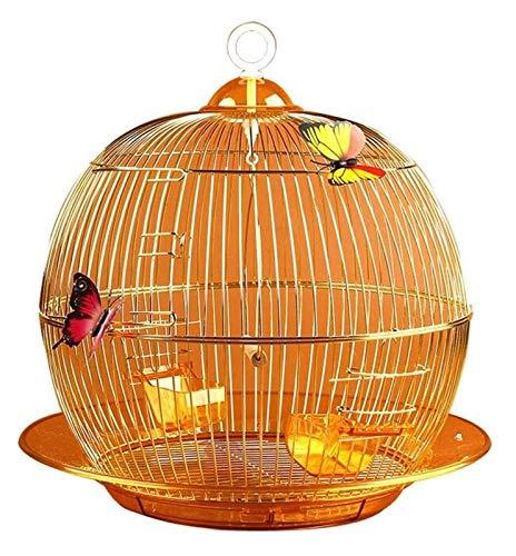 HLZY Jaula de pájaros de Parrot de Vuelo Grande para De Estilo Europeo Golden Aristocratic Parrot Jaula Moda Exquisito Decorativo Ornamental Pájaro Jaula de Pájaro Al Aire Libre Cría Hundido