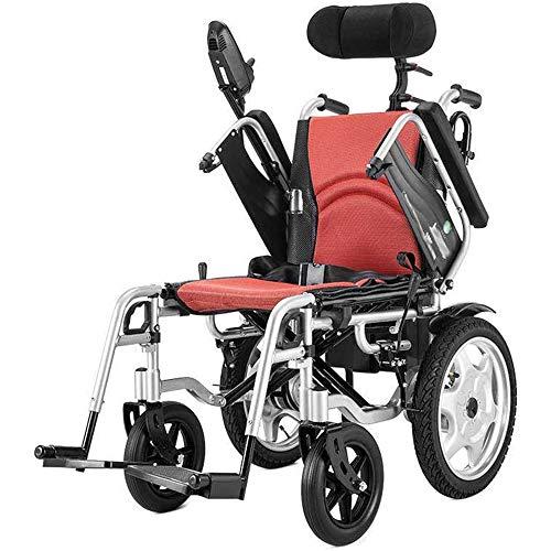 Hochleistungs-Elektrorollstuhl Mit Kopfstütze, Zusammenklappbarem Tragbarem Elektrorollstuhl, Fahren Mit Elektrischer Energie Oder Verwendung Als Manueller Rollstuhl Für Behinderte Ältere Menschen