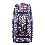 Boombah Beast Camo Baseball/Softball Bat Bag - 40' x 14' x 13' - Royal/Red - Holds 8 Bats, Glove & Shoe Compartments
