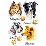 Color Bügeltransfer, DIN A4, Hunde 2 | Textilien wie T-Shirts & Taschen mit Bügelmotiven verzieren | Bilder schnell & einfach aufbügeln | DIY Textildesign