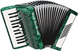 Weltmeister Piano - Acordeón con perlas, color verde