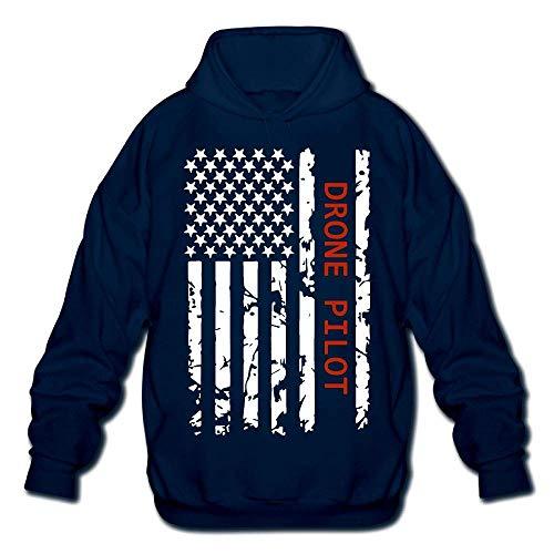 Jeffhd_tee Drone Pilot USA Flag Mens Printed Hoodie Sweatshirt Sweater
