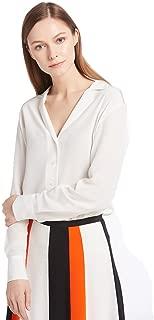 LilySilk Women's 100% Silk Blouse Long Sleeve V Neck Ladies Shirt Silk