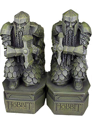 XYSQWZ Hobbit Bookends, Lord of The Rings Sculpture Hobbit Smaug Statue Book Desk Desk Ornaments Jewelry