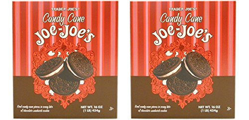 Trader Joes Candy Cane Joe Joes Sandwich Cookies (Pack of 2) Limited Edition for the Holidays