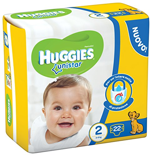Huggies Unistar, Taglia 2 (3-6 kg), 22 Pannolini