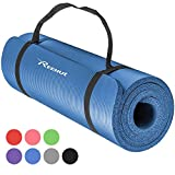 REEHUT Tappetino 12mm Yoga Pilates Fitness Allenamento Gomma NBR...