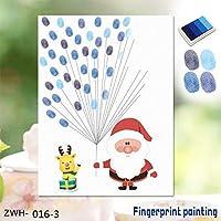 YBB-YB ウォールステッカー 壁 3Dステッカー3D 指紋アマゾン爆発クリエイティブクリスマス老人フィンガークリエイティブ指紋ホームデコレーション絵画、F インテリア ポスター ウォールペーパー