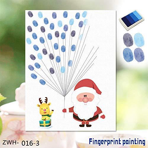 DJY-JY 3D Etiqueta engomada 3D Huellas Dactilares Amazon explosión Creativa de Navidad Viejo Creativo Dedo de la Huella Digital la decoración del hogar Pintura, F