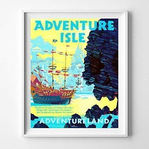 Disneyland Adventure Oklahoma City Mall Isle Adventureland Wall Home Dec Poster Art Japan's largest assortment