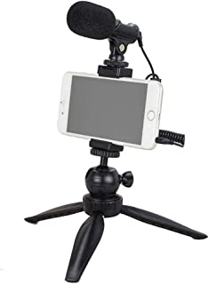 YouTube Starter Kit, Tubace Ranger Starter+ Shotgun Microphone with Mini Tripod, Pocket Vlogging Starter kit, Compatible for iPhone11/XS/X/8/8P/7/7P/6s/se, Galaxy S10/S9/S8/S7 Huawei