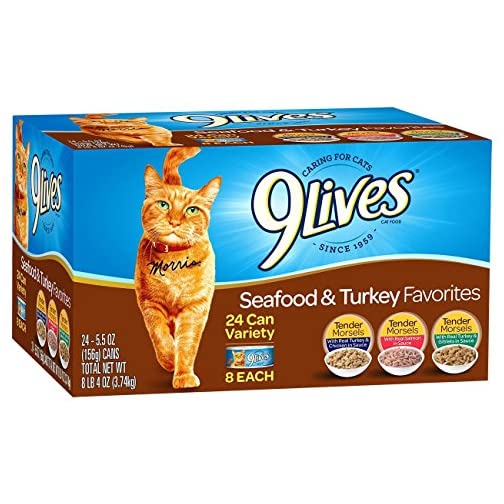 9 Lives Seafood & Turkey Favorites Wet Cat Food Variety (24 Pack), 5.5 oz 3