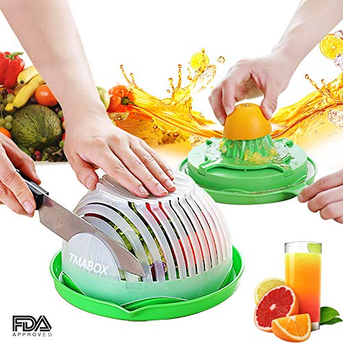 Salad Cutter Bowl,Fruit Vegetable Cut Set,Upgraded Juice Making and Salad Make,Salad Chopper Bowl Fresh Salad Slicer FDA-Approved