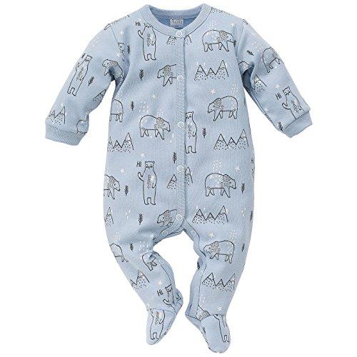Pinokio Baby - Jungen oder Mädchen Schlafanzug einteilig/Strampler aus der Serie North hellblau Eisbär (86)