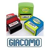 Tampon avec nom–Giacomo–personnalisé clearco–ns079