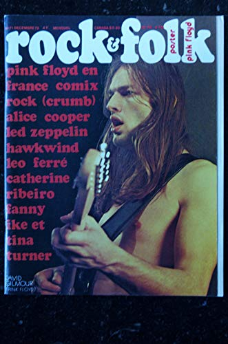 ROCK & FOLK 071 1972 DECEMBRE COVER PINK FLOYD Interview + POSTER ALICE COOPER LED ZEPPELIN LEO FERRE RIBEIRO JACKSON FIVE