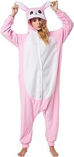 Katara 1744 -Hase Kostüm-Anzug Onesie/Jumpsuit Einteiler Body für Erwachsene Damen Herren als Pyjama oder Schlafanzug Unis...