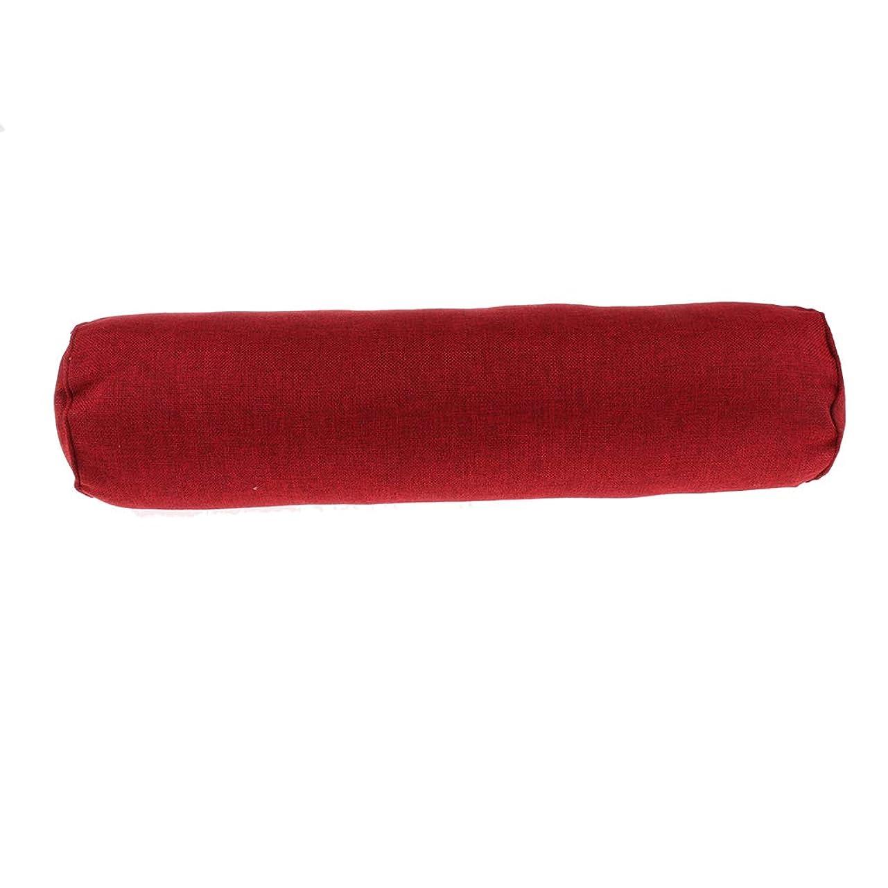 ヒット堂々たるオーチャードPerfeclan 全5色 ネックロールピロー 携帯枕 頚椎サポート 自宅 オフィス トラベル 洗える - ワインレッド